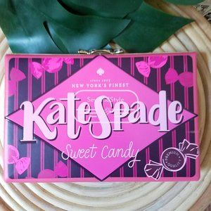 Kate Spade NWT Candy Shop Clutch Pink Wrapper